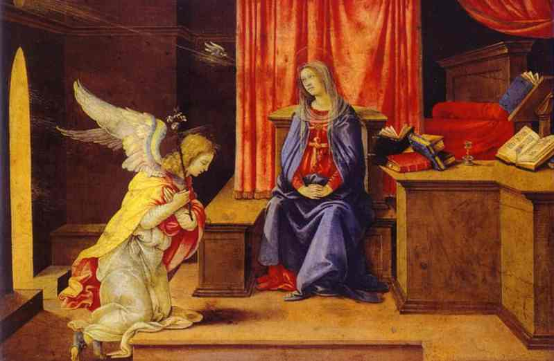 Annunciation. Tempera on oil. The Hermitage, St. Petersburg, Russia.