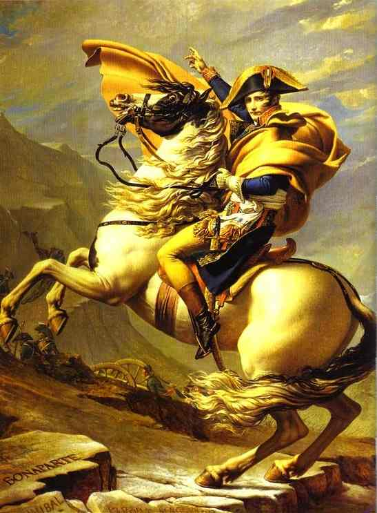 Bonaparte Crossing the St. Bernard Pass. 1800