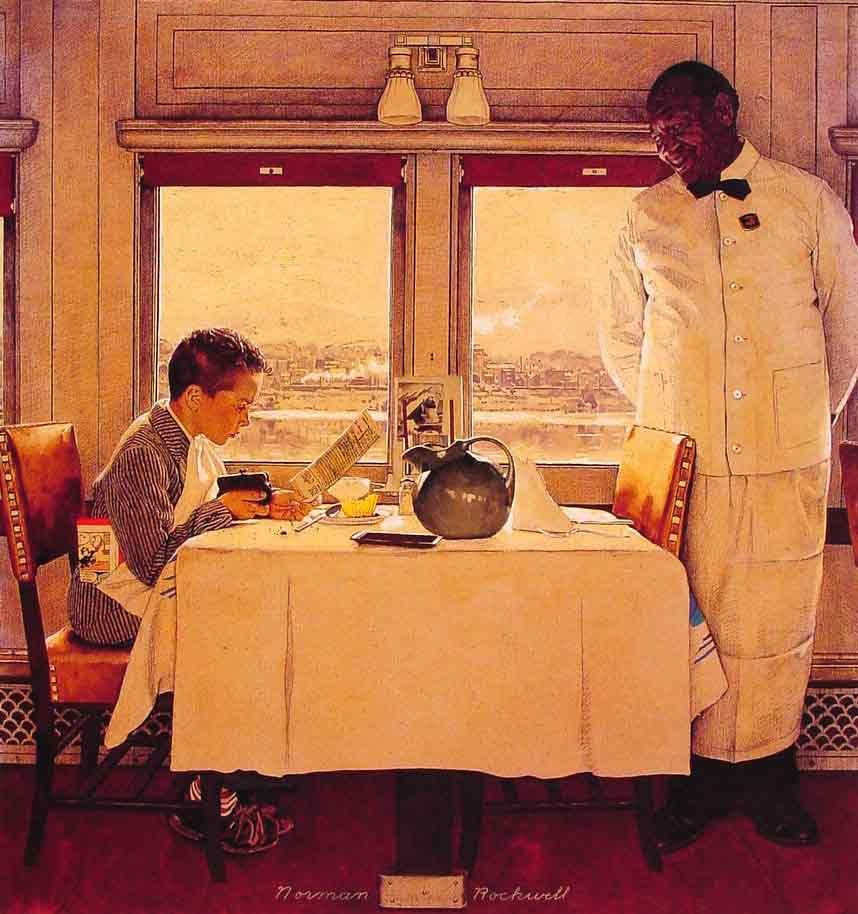 Boy in a Dining Car,1947
