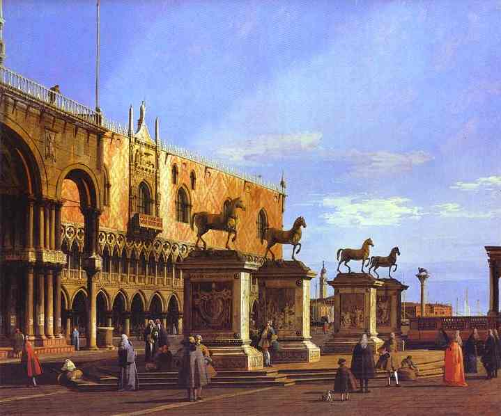Capriccio: the Horses of San Marco in the Piazzetta. 1743