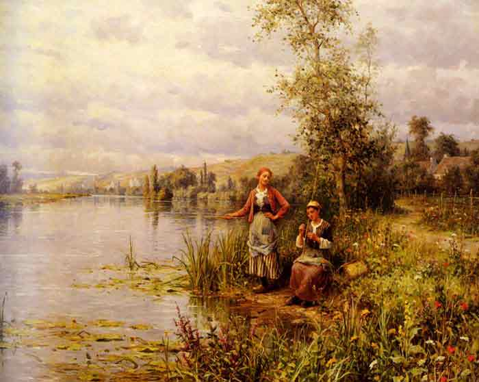 Country Women Fishing on a Summer Afternoon