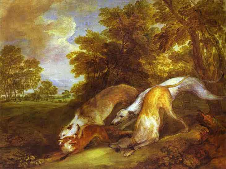 Dogs Chasing a Fox. 1784