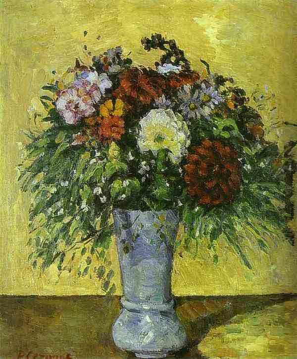 Flowers in a Blue Vase. c. 1873