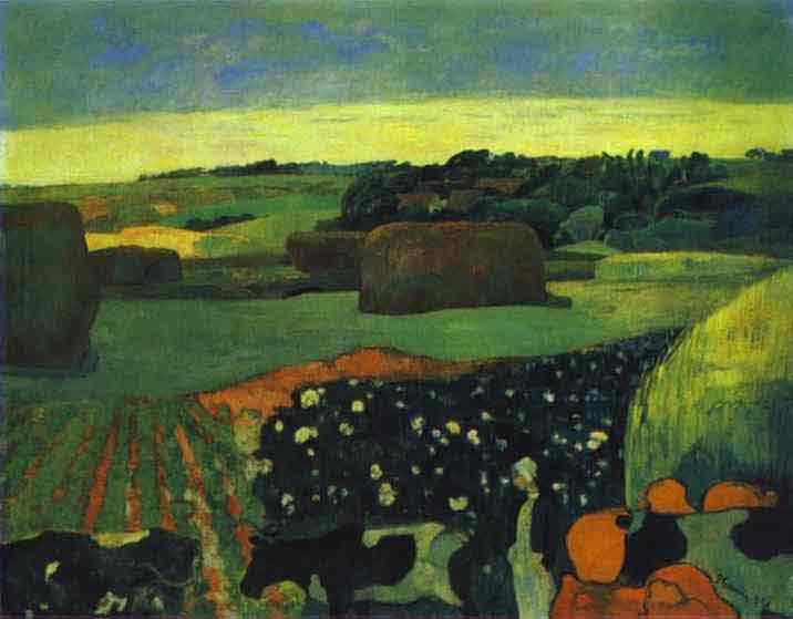Haystacks in Brittany. 1890