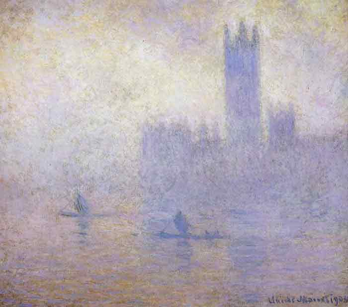 Houses of Parliament, Fog Effect, 1900