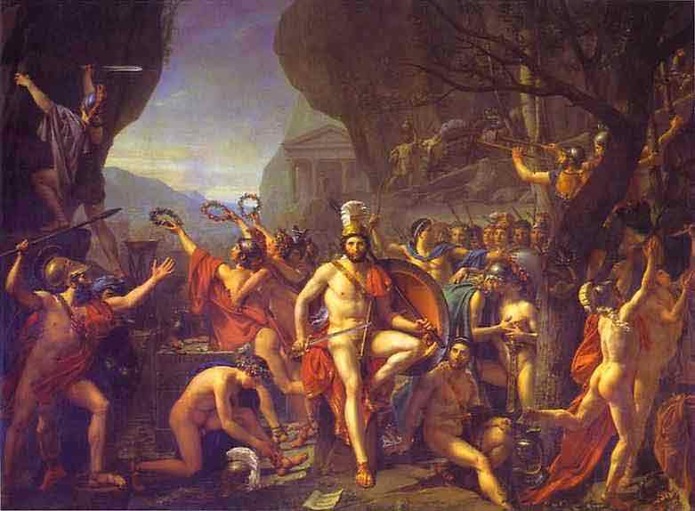 Leonidas at Thermopylae. 1814