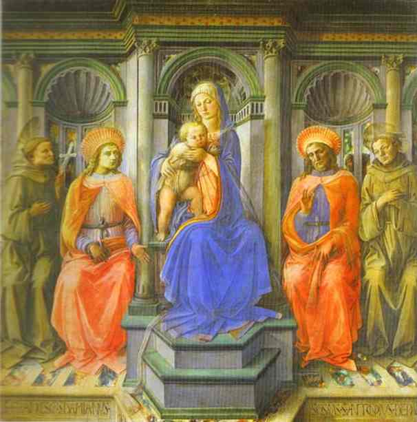 Madonna Enthroned with Four Saints. 1442