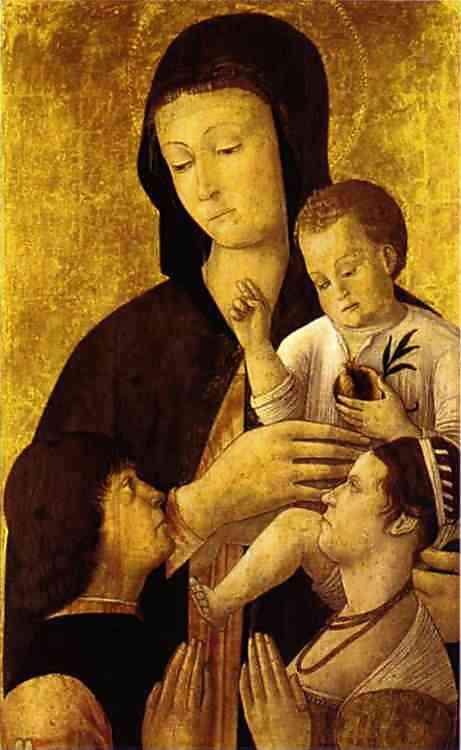 Madonna and Child with Donors. c. 1460