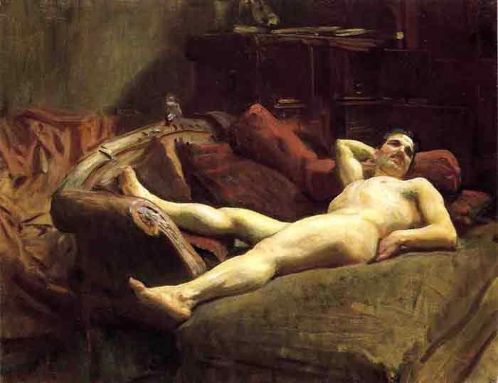 Male Model Resting, 1895
