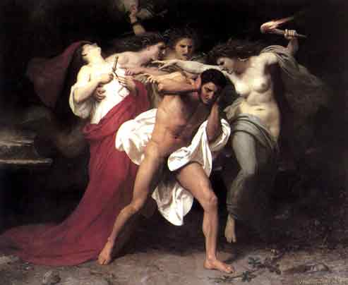 Orestes Pursued by the Furies,1862