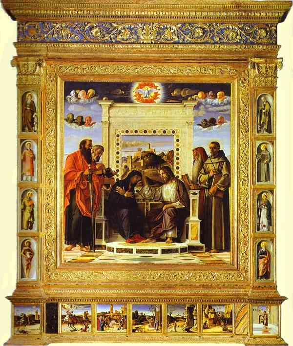 Pesaro Altarpiece. Coronation of the Virgin. c. 1471