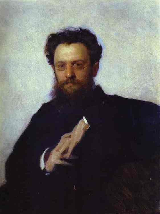 Portrait of Adrian Prakhov, Art Critic and Historian. 1879