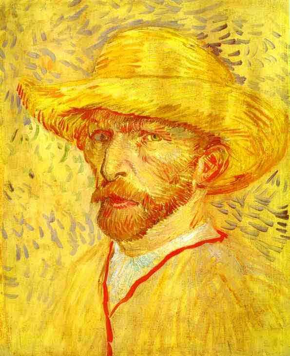 Self-portrait with Straw Hat. 1887