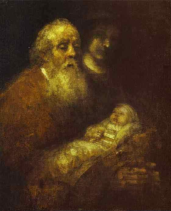 Simeon with the Christ Child in the Temple. c. 1666