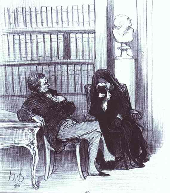 The Widow at a Consultation. From the Series Les Gens de justice. c. 1846