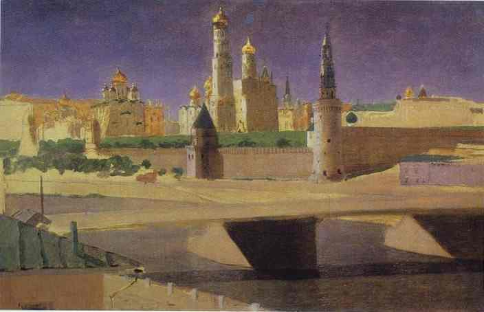 View of the Kremlin from the Zamoskvorechye District. 1882