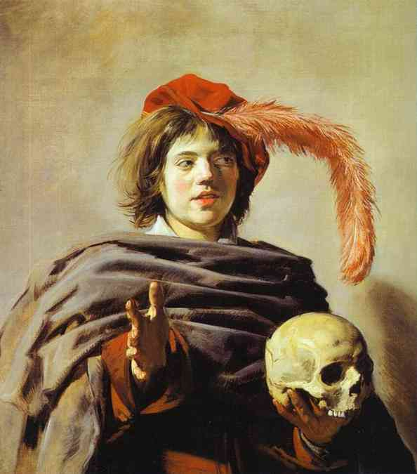 Young Man with a Skull (Vanitas). c1626