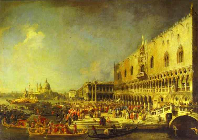 The Reception of the French Ambassador in Venice. 1740