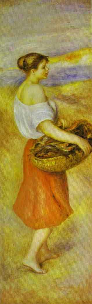 Girl with a Basket of Fish. c.1889