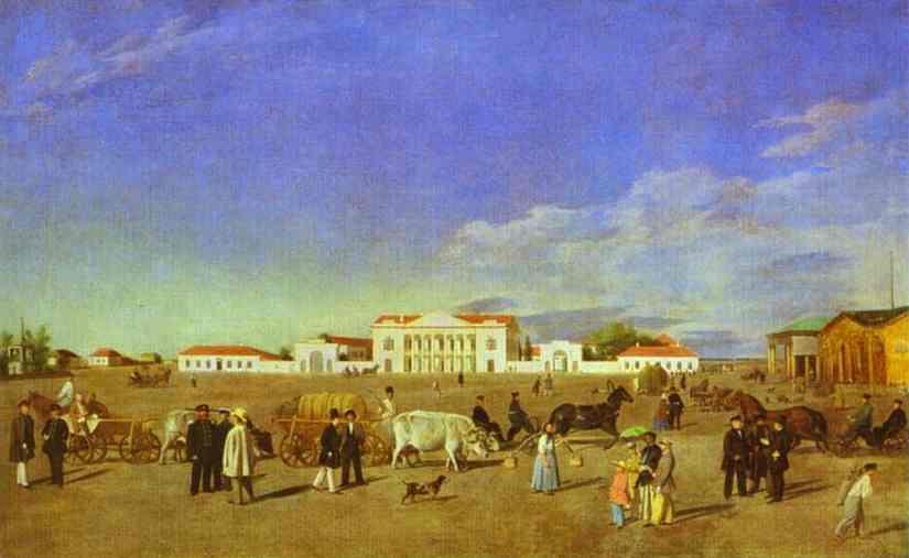 Alexander Square in Poltava. 1850