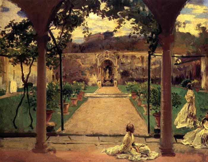 At Torre Galli: Ladies in a Garden, 1910