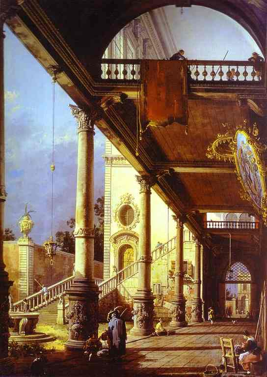 Capriccio of Colonade and the Courtyard of a Palace. 1765