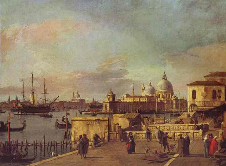 Entrance of the Grand Canal: from the West End of the Molo. 1735