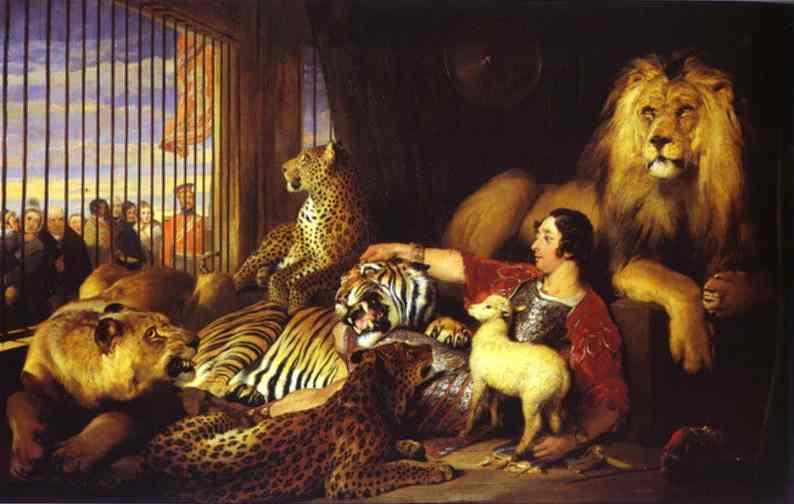 Isaac Van Amburgh and His Animals. 1839