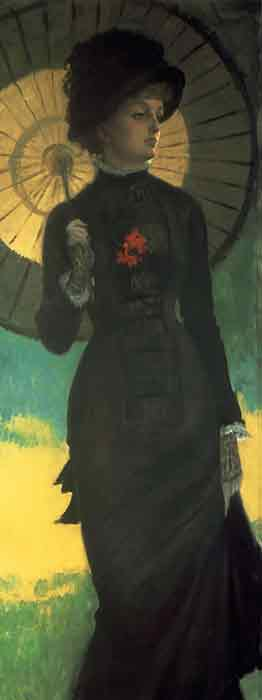 Mrs Newton with a Parasol, c.1879
