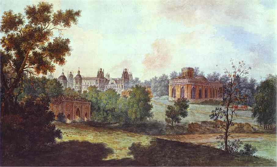 Palace in Tsaritsyno in the Vicinity of Moscow. 1800-1802