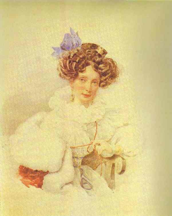 Portrait of Catherine Bakunina. 1830