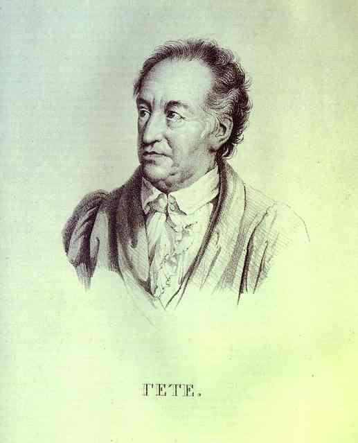 Portrait of I. W. Goethe. 1823