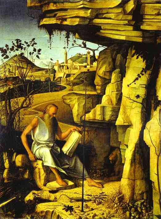 St. Jerome in the Desert. c. 1480