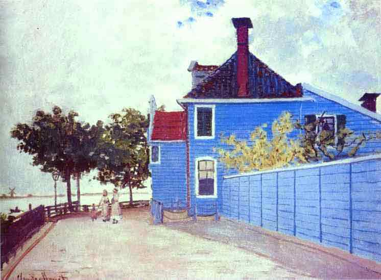 The Blue House in Zaandam 1871.