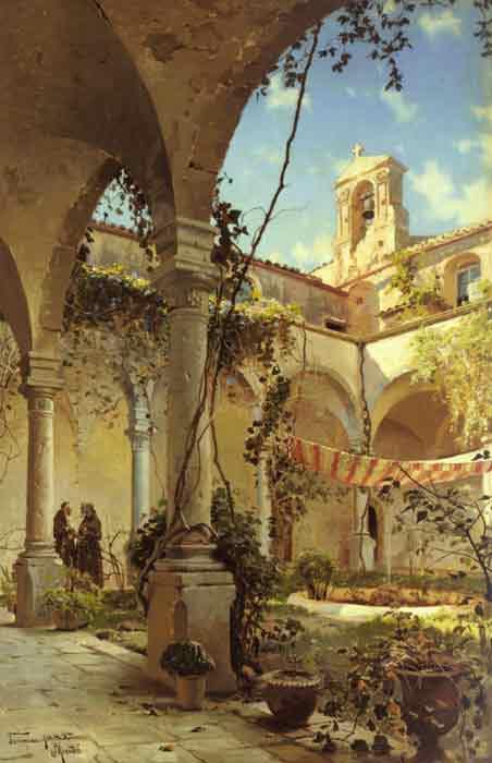 The Cloister, Taormina, 1885