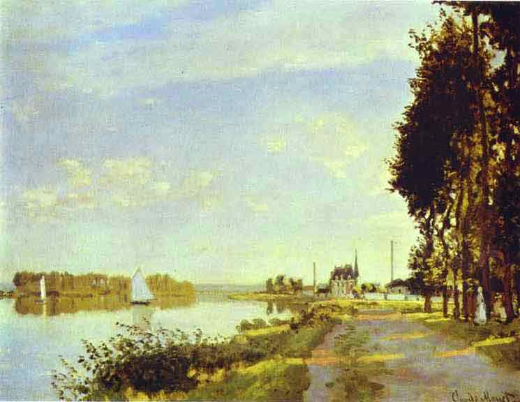 The Riverside Path at Argenteuil 1872.
