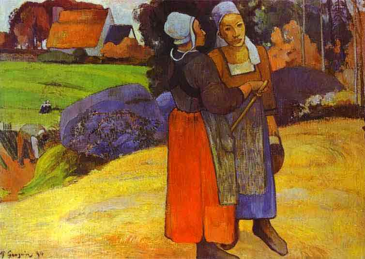 Two Breton Women on the Road. 1894