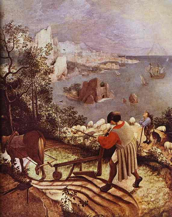 Landscape with the Fall of Icarus. Detail. 1555