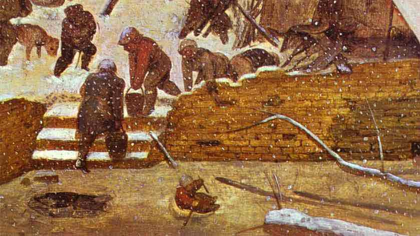 Adoration of the Magi in Winter Landscape. Detail. 1567