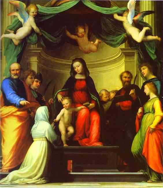 The Mystic Marriage of St. Catherine of Siena, with Eight Saints. 1511