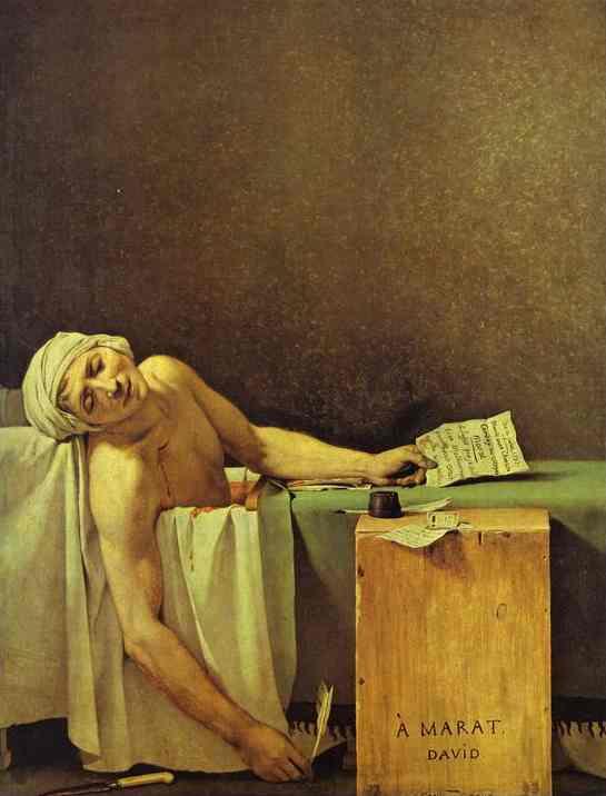 Death of Marat. Oil on canvas. 1793