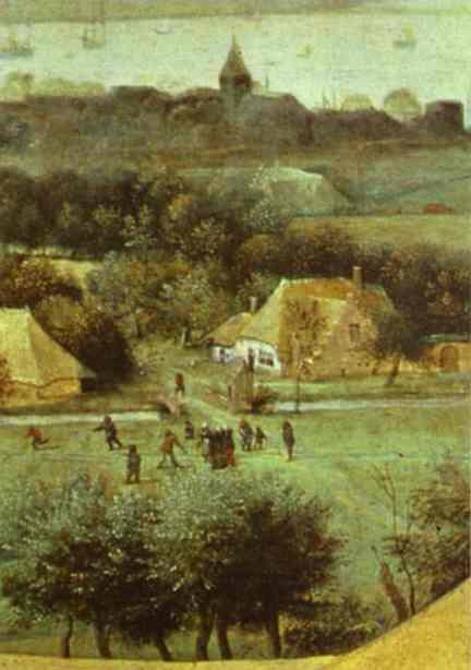 The Corn Harvest (August). Detail. 1565