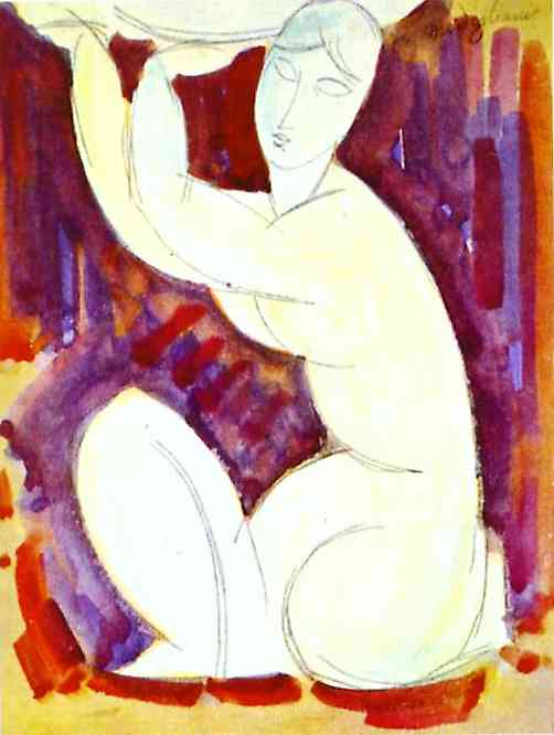 Oil painting:Caryatid. 1913