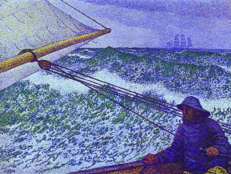 Oil painting:Man at the Helm. 1892