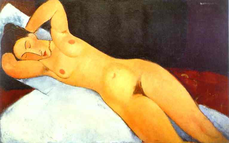 Oil painting:Nude with Necklace. 1917