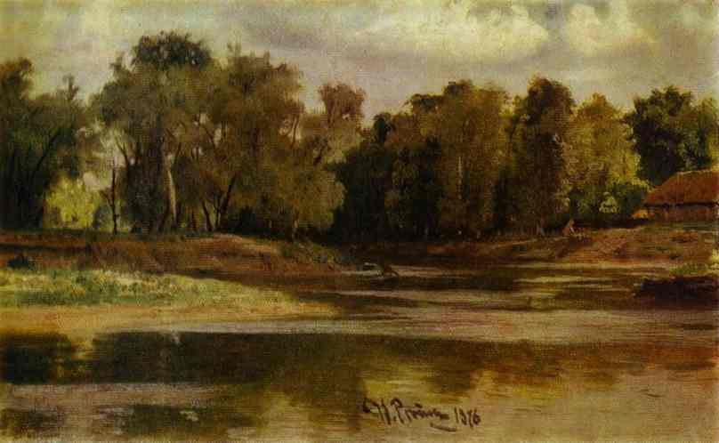 Oil painting:River Bank. 1876