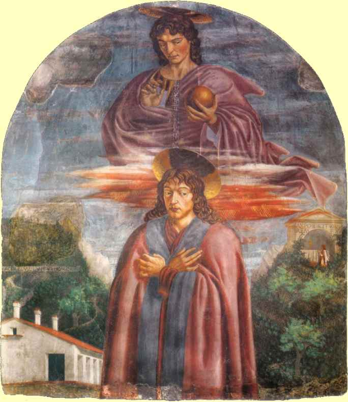Oil painting:St Julian and the Redeemer. c. 1453