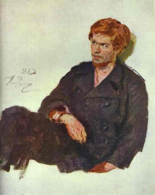 Oil painting:Student-Nihilist. 1883