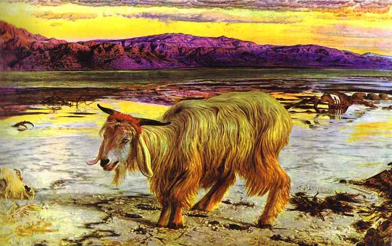 Oil painting:The Scapegoat. 1854
