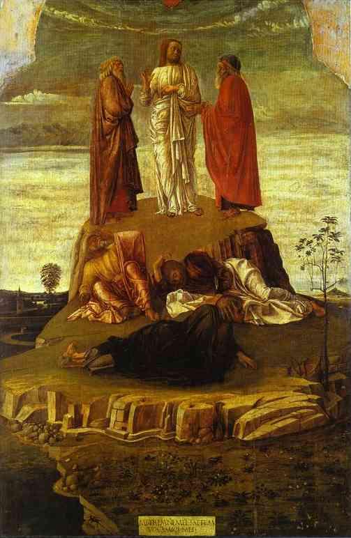 Oil painting:Transfiguration. c. 1460
